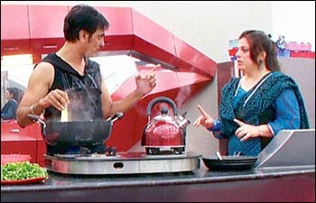 Rajeev and Delnaaz in Bigg Boss-6 house